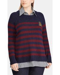 Denim & Supply Ralph Lauren - Plus Size Sweater With False Undershirt - Lyst