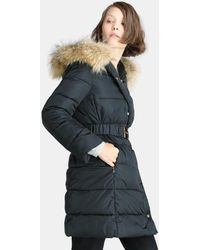 Yera | Long Quilted Coat With A Hood | Lyst