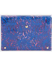 El Corte Inglés - Wo Pink Transparent Briefcase With Blue Leaf Print - Lyst