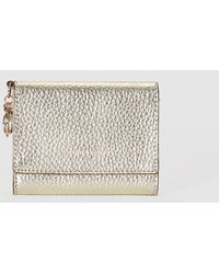 Gloria Ortiz - Wo Gold-coloured Wallet With Flap Fastening And Pocket On The Outside - Lyst