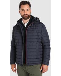 Tommy Hilfiger - Big And Tall Blue Quilted Coat - Lyst