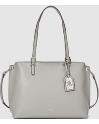 c12bbde7d55c Lauren by Ralph Lauren - Light Grey Shopper Bag With Metallic Pendant - Lyst