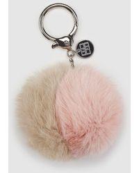 Gloria Ortiz - Fur Two-toned Natural Fur Key Ring - Lyst