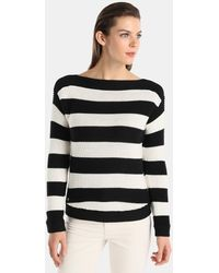 Lauren by Ralph Lauren - Striped Long-sleeved Jumper - Lyst
