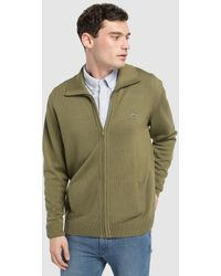 55fe5d003 Lacoste - Green Jacket With A High Neck - Lyst