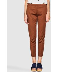 Esprit   Brown Cropped Trousers   Lyst