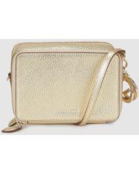 Gloria Ortiz - Christmas Charm Gold Leather Mini Crossbody Bag With A Detachable Strap - Lyst
