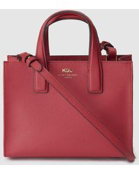 f346b899e3d Kurt Geiger - London Red Saffiano Leather Tote Bag With Magnet - Lyst