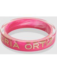 Gloria Ortiz - Victoria Fuchsia And Gold Bracelet - Lyst