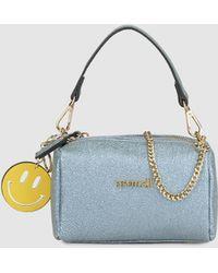 Pepe Moll - Pale Blue Mini Handbag With Chain Shoulder Strap - Lyst