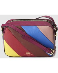 Kurt Geiger - Richmond Small Leather Crossbody Bag With Multicoloured Angles Stripes - Lyst