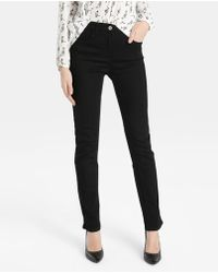 Zendra El Corte Inglés - El Corte Inglés Zendra Black Straight Jeans - Lyst