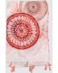 Caminatta - Multicoloured Foulard With Mandalas And Tassels - Lyst