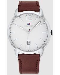 Tommy Hilfiger - 1791495 Brown Leather Watch - Lyst