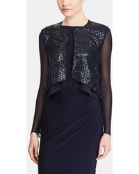 Lauren by Ralph Lauren - Jacket With Sequins And Chiffon Sleeves - Lyst