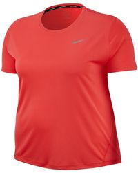 25e1bf40a0c0e Lyst - Nike Plus Size Dri-fit T-shirt in Red