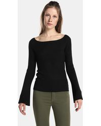 Green Coast - Boatneck Sweater With Belled Sleeves - Lyst