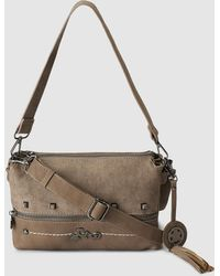 Caminatta - Taupe Clutch With Medium Detachable Strap - Lyst