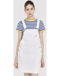 558f3652e4f Lyst - Tommy Hilfiger Tommy Jeans 90 s Dungaree in White
