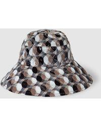 Gloria Ortiz - Wo Beige Geometric Print Rain Hat - Lyst