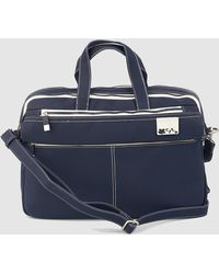 Caminatta - Navy Blue Portfolio With Double Compartment - Lyst