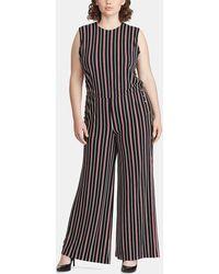 e978be842b1 Denim   Supply Ralph Lauren - Plus Size Long Striped Jumpsuit - Lyst