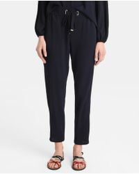 Zendra El Corte Inglés - El Corte Inglés Zendra Fluid Trousers With A Drawstring Waist - Lyst