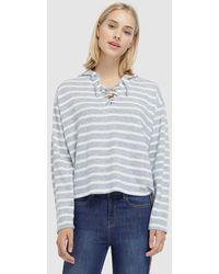 Green Coast - Striped Sweatshirt With Criss-cross Tie - Lyst
