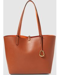 f5b12ed43e98 Lauren by Ralph Lauren - Reversible Brown And Orange Tote Bag With A  Detachable Pocket -
