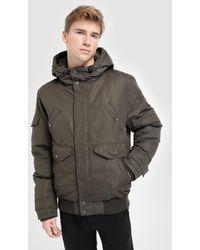 Green Coast - Khaki Hooded Jacket - Lyst