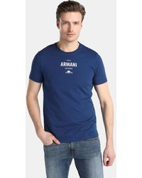 Armani Exchange - Blue Short Sleeved T-shirt - Lyst