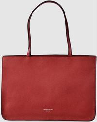 Gloria Ortiz - Adele Red Leather Shopper Bag With Magnet - Lyst