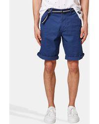 Esprit - Navy Blue Bermuda Shorts - Lyst