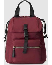 El Corte Inglés - Burgundy Nylon Convertible Backpack - Lyst
