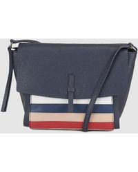 30071ca324ee Gloria Ortiz - Alabama Small Cross-body Bag In Navy Blue Striped Leather -  Lyst