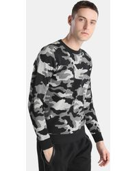 Green Coast - Camouflage Jumper With A Round Collar - Lyst