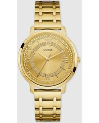 Guess - W0933l2 Montauk Golden Steel Watch - Lyst