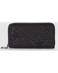 El Corte Inglés - Black Nylon Wallet With Double Zipped Compartment - Lyst