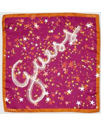 Guess - Pink Printed Silk Handkerchief - Lyst
