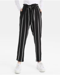 Green Coast - Striped Trousers With Belt - Lyst