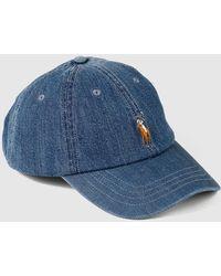Polo Ralph Lauren - Mens Denim Blue Cotton Baseball Cap - Lyst 05b01190c8f6