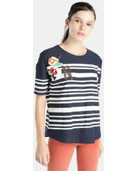 Esprit | Striped T-shirt With Rhinestones | Lyst