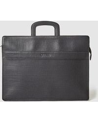 Guess - Black Saffiano Effect Briefcase - Lyst