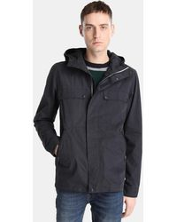 Green Coast - Navy Blue Hooded Parka - Lyst