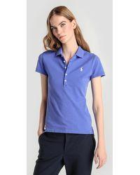 Polo Ralph Lauren - Blue Short-sleeved Polo Shirt - Lyst