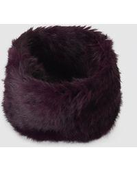 Gloria Ortiz - Fur Burgundy Natural Fur Cowl - Lyst