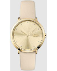 Lacoste - 2001030 White Leather Watch - Lyst