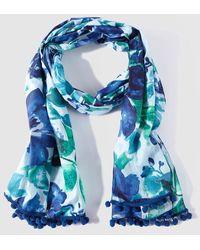 Caminatta - Blue Floral Print Cotton Foulard - Lyst