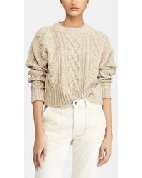 Polo Ralph Lauren - Short Cable Knit Sweater - Lyst