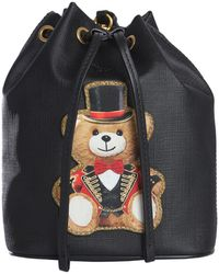 Moschino - Leather Bag With Teddy Bear Circus - Lyst